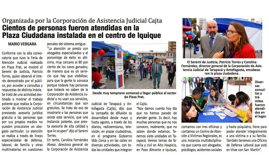 Plaza Justicia y Conferencia de Prensa
