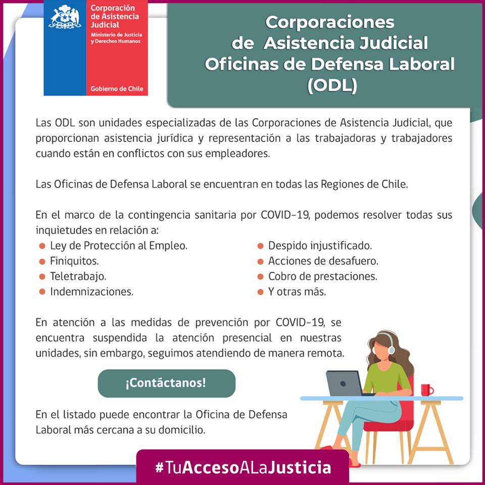 Oficinas de Defensa Laboral de las Corporaciones de Asistencia Judicial