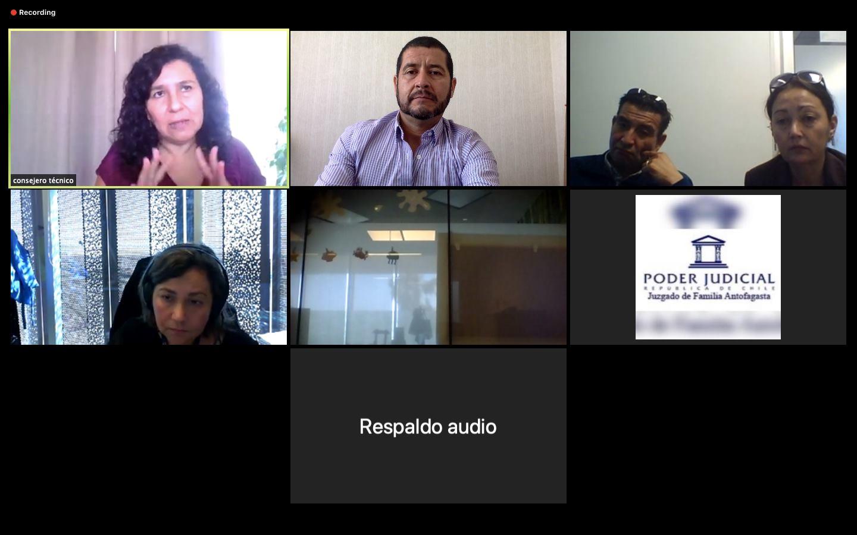 Participación en audiencias por videoconferencia del Consultorio Jurídico Antofagasta Centro