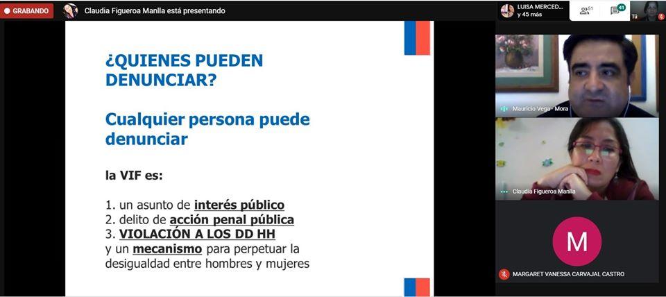 Consultorio Jurídico Arica realiza charla informativa por videoconferencia