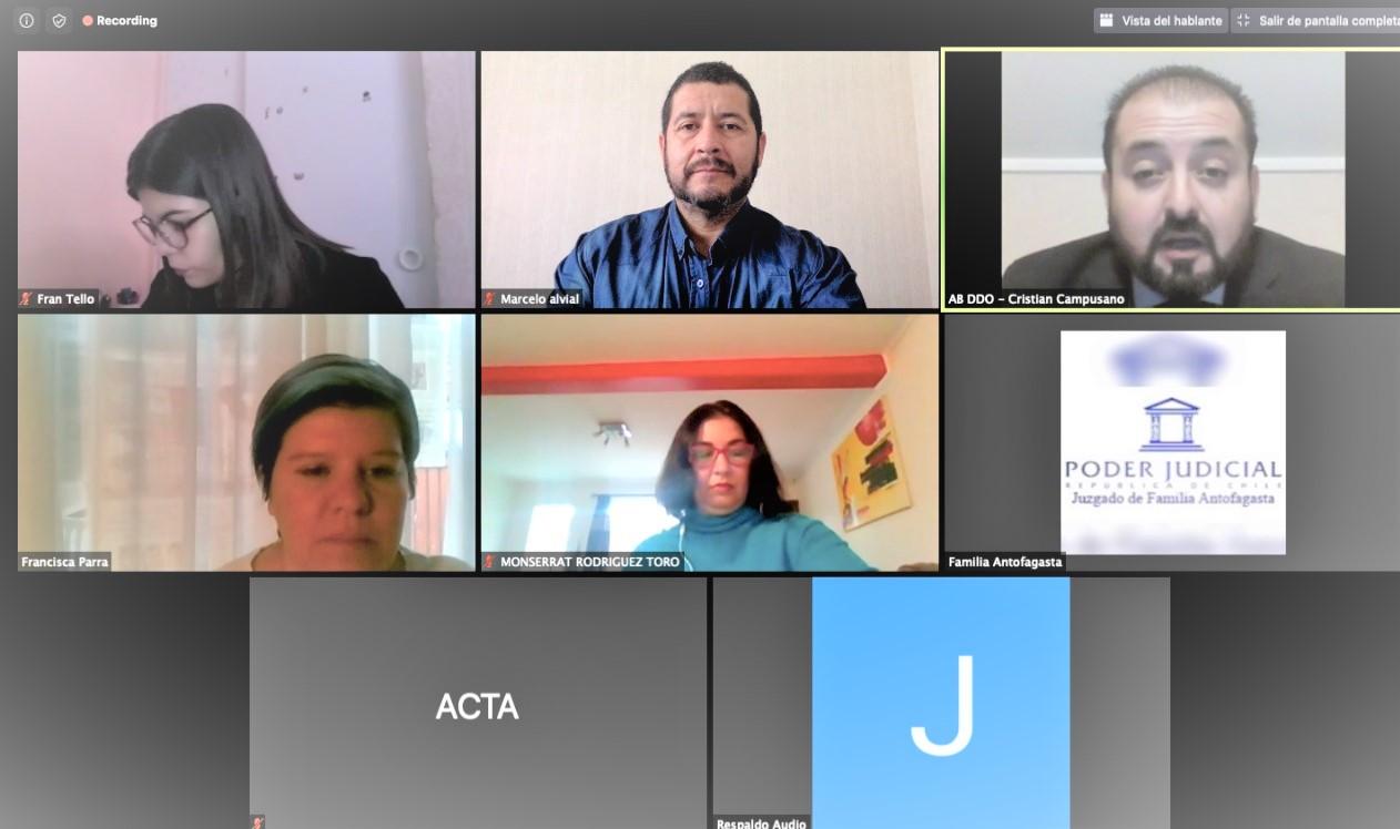 Consultorio Jurídico Centro comparece por videollamada a audiencia de familia