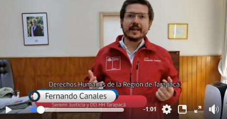 Vídeo sobre la CAJTA del Seremi de Justicia y Derechos Humanos de Tarapacá. Fernando Canales