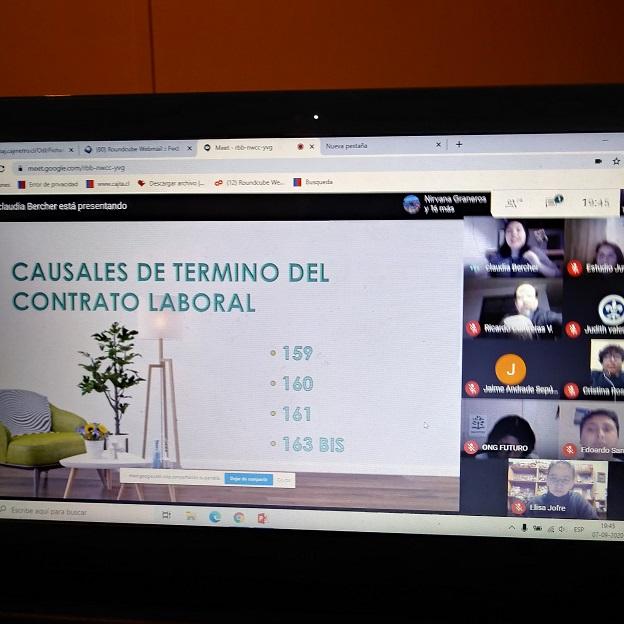 Oficina de Defensa Laboral de Arica y Parinacota expone en ciclo de charlas