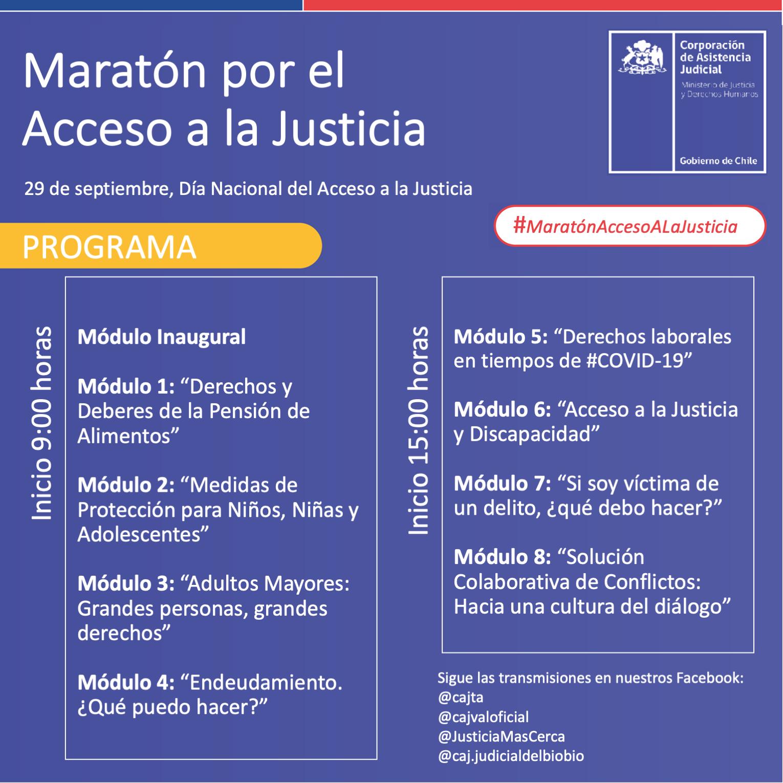 Maratón por el Acceso a la Justicia