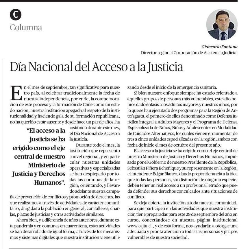 Entrevista al Director Regional de Antofagasta por Diario el Mercurio