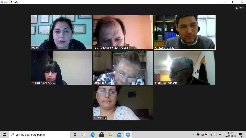 El Director Regional de Antofagasta realiza capacitación a Junta de Vecinos La Favorecedora