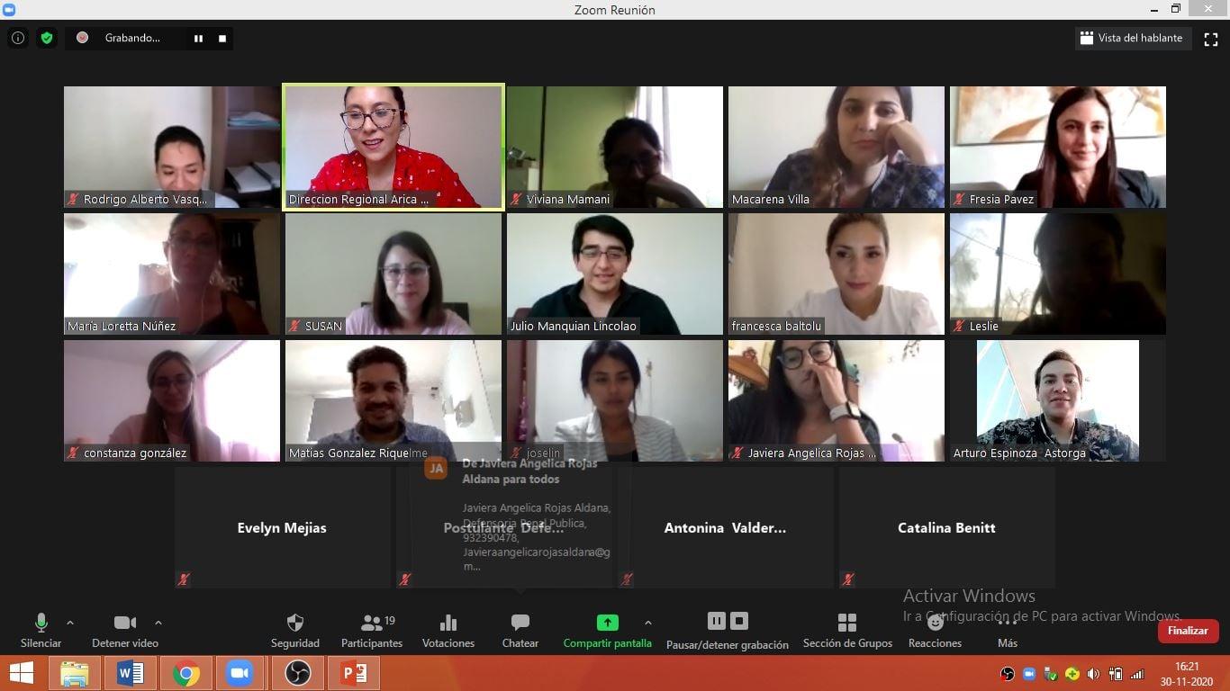 Dirección Regional de Arica y Parinacota realiza actividad a postulantes de la carrera de Derecho