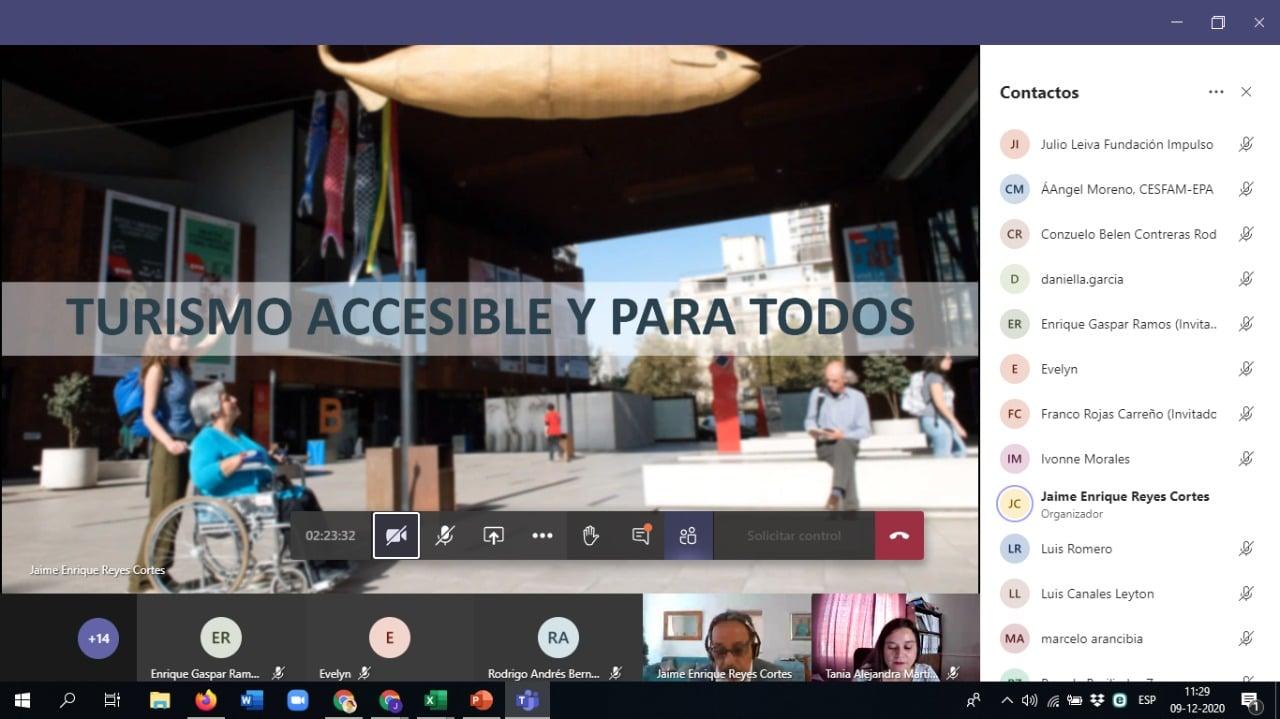 Convenio CAJTA-SENADIS Arica participo en Comisión de Accesibilidad
