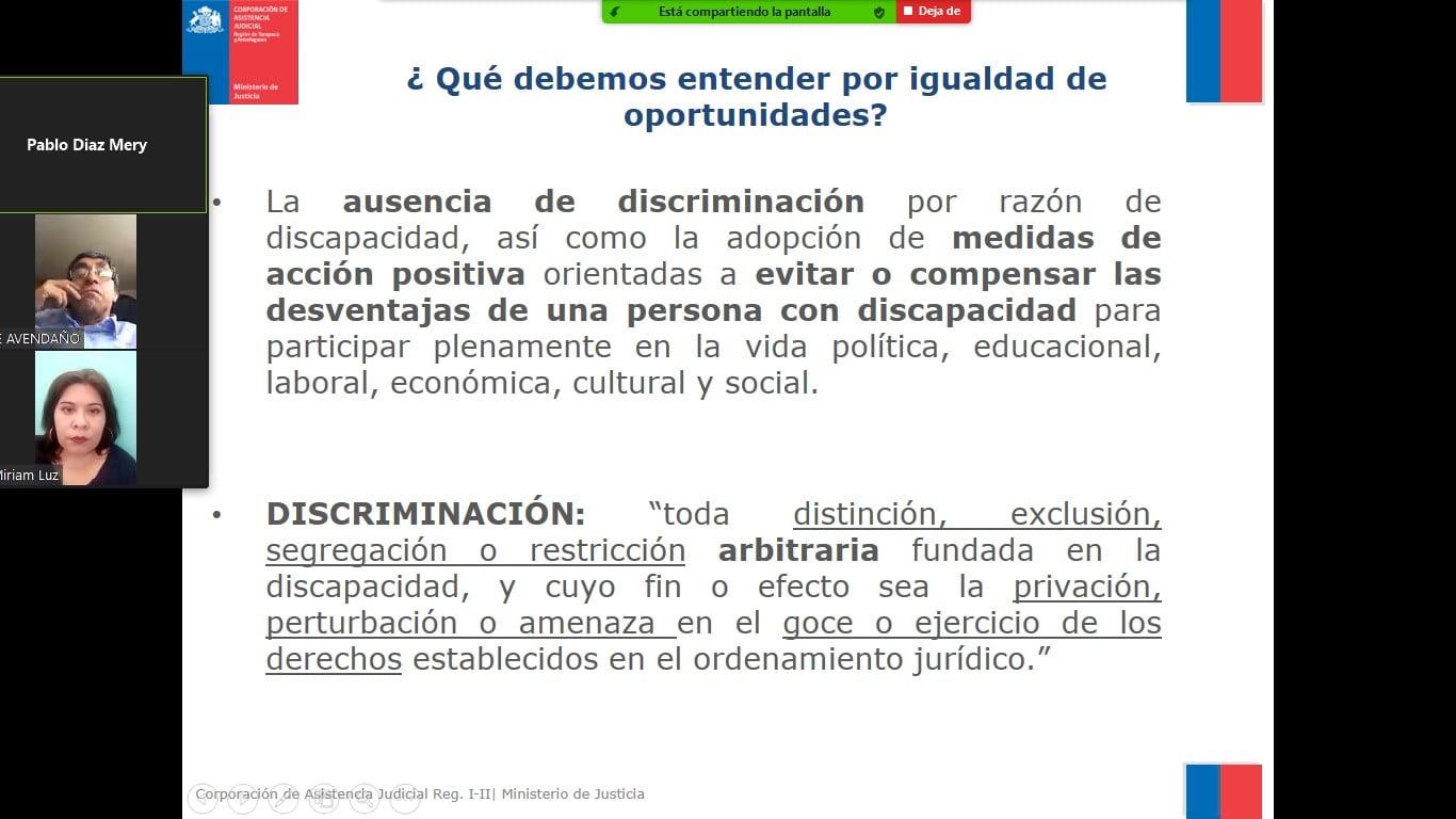 Convenio CAJTA-SENADIS realiza capacitación sobre ley 20.422