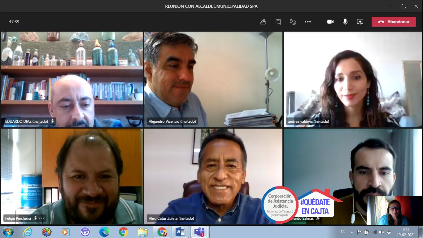 CAJTA se reúne con alcalde de San Pedro de Atacama