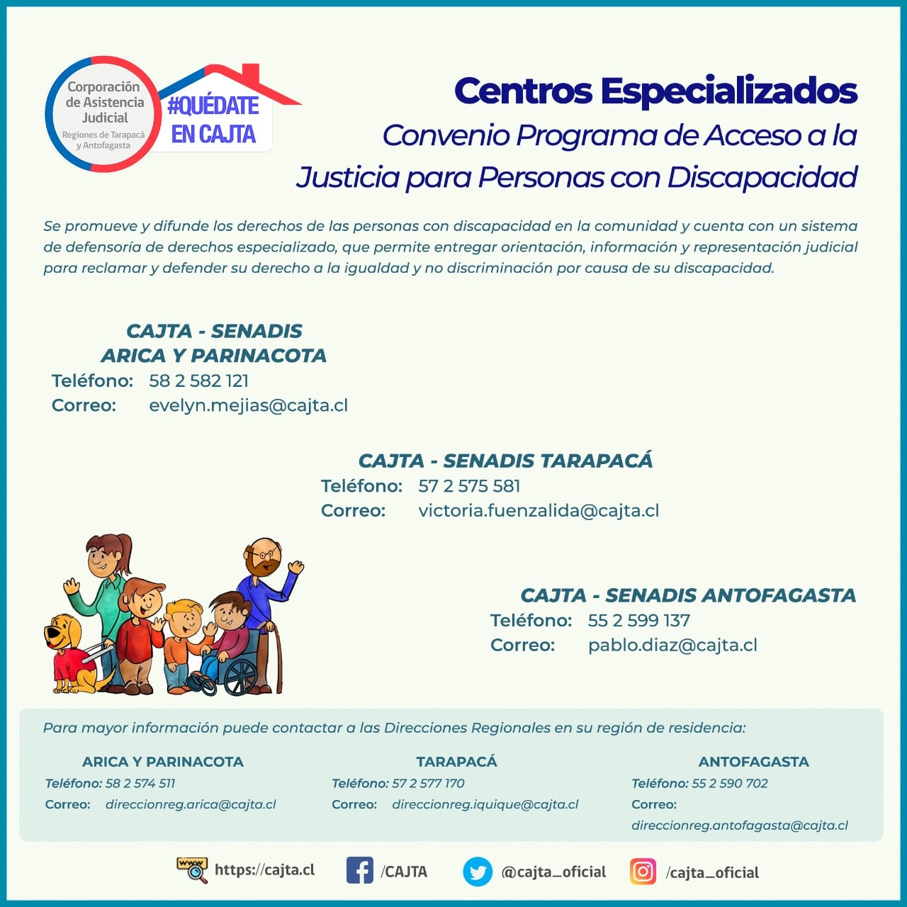 CAJTA brinda apoyo jurídico y social a las personas con discapacidad