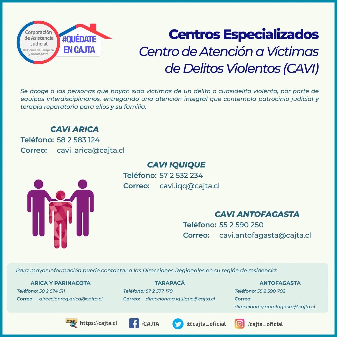 Centros de Atención a Víctimas de Delitos Violentos, CAVI