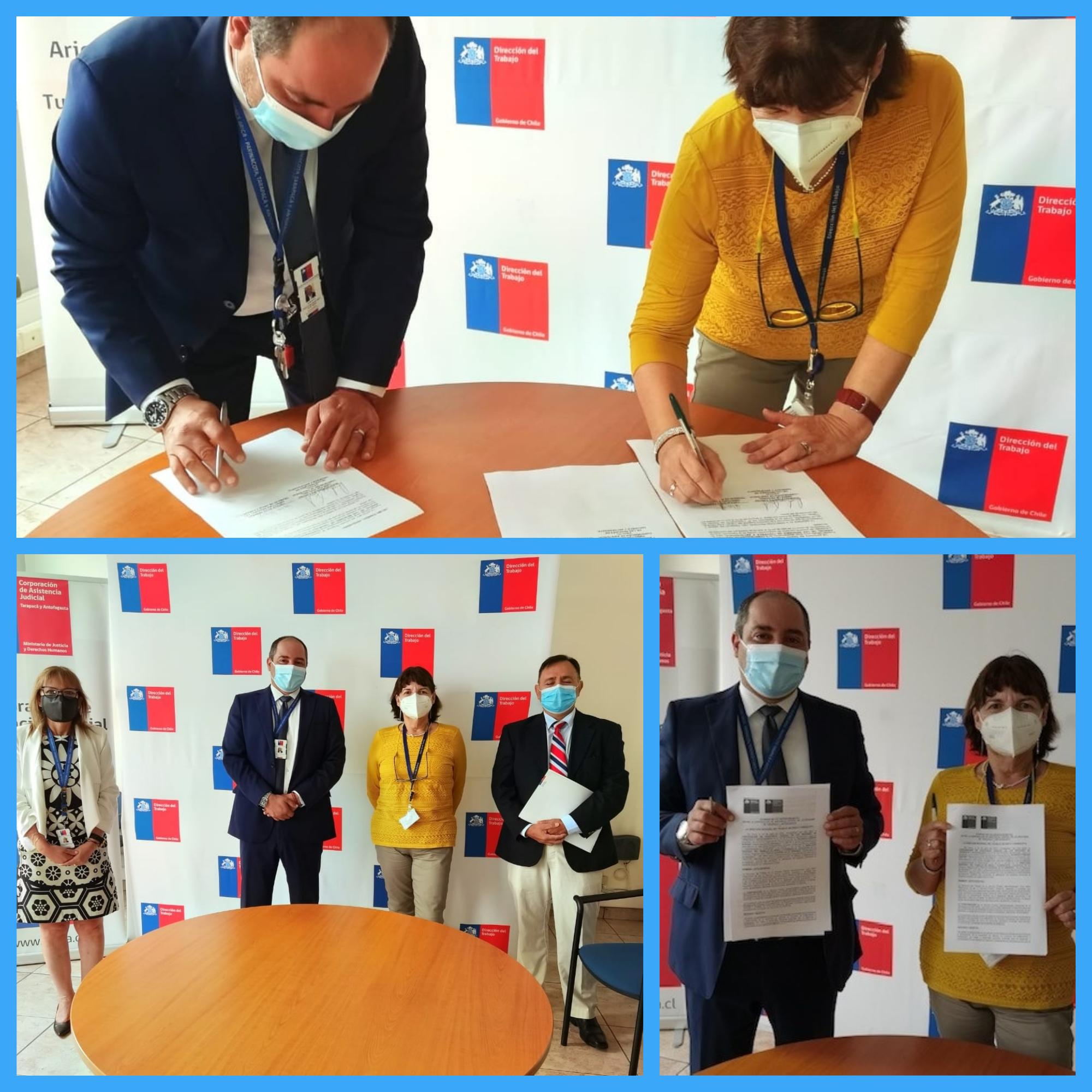 Dirección Regional del Trabajo de Arica y Parinacota y Dirección Regional de CAJTA Firman Acuerdo de Colaboración Mutua