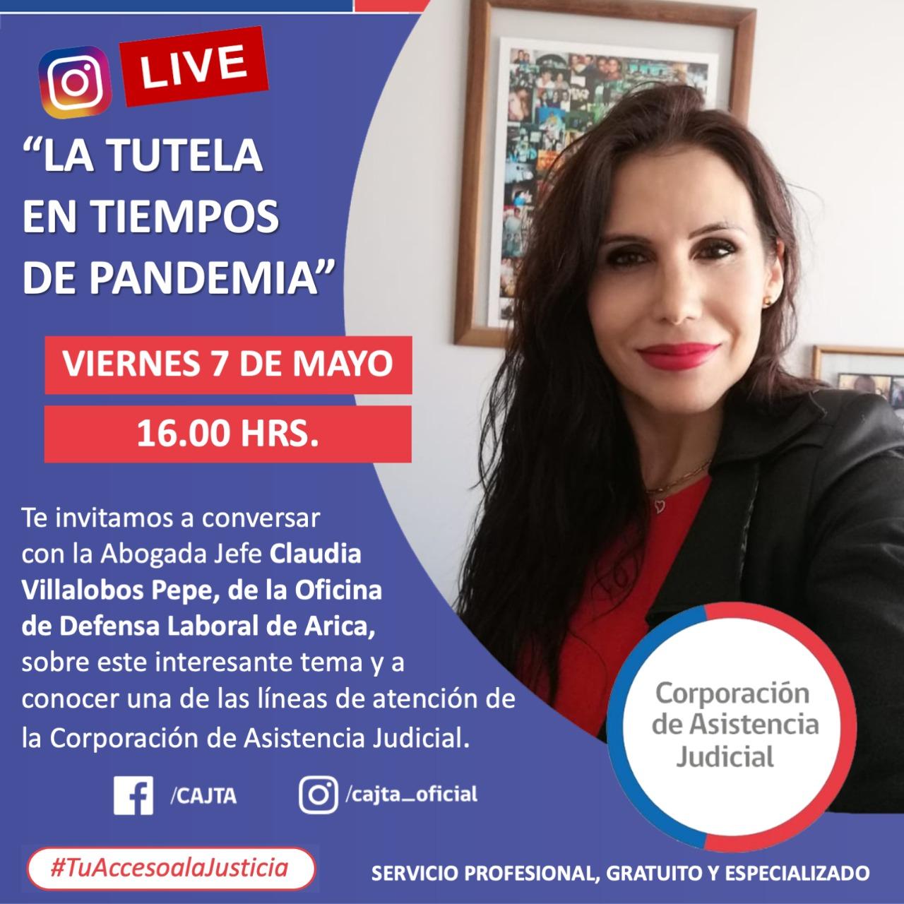 """INSTAGRAM LIVE DE LA CAJTA presenta  """"La Tutela en Tiempos de Pandemia"""""""
