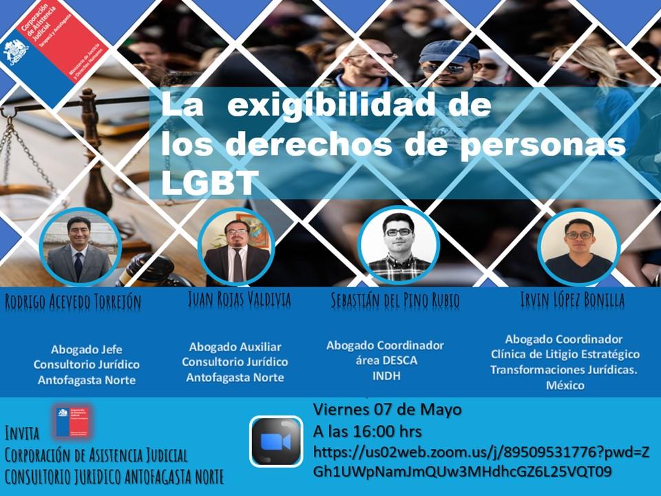 """Consultorio Jurídico Norte Antofagasta realiza conversatorio sobre  """"La exigibilidad de los Derechos de las Personas LGBT"""""""