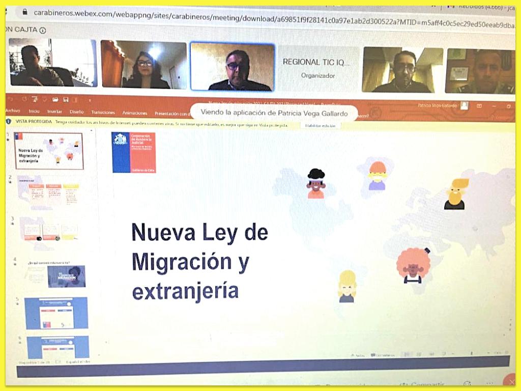 ODL de Tarapacá capacitó sobre Migración a Carabineros de Chile