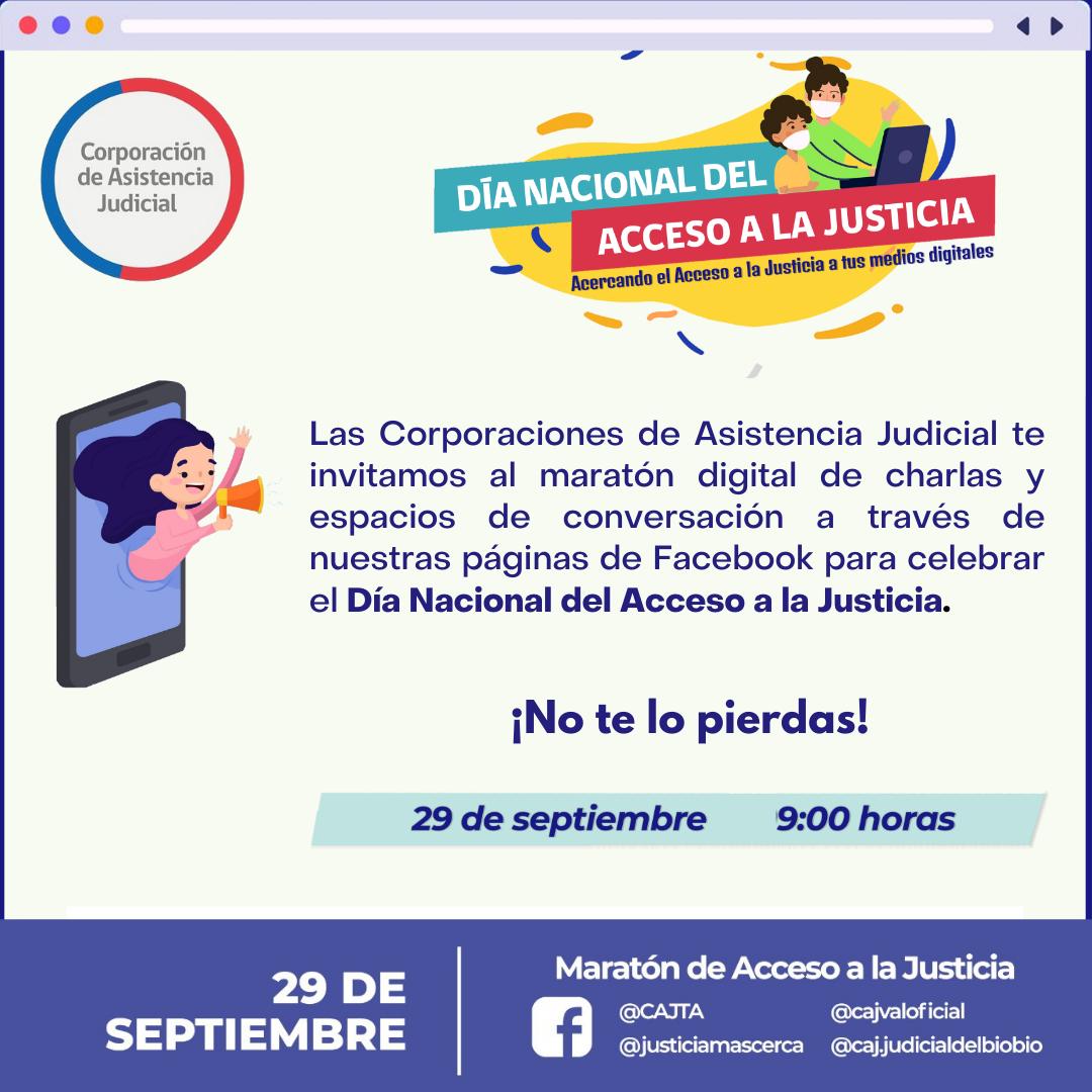 MARATÓN POR EL ACCESO A LA JUSTICIA MIÉRCOLES 29 DE SEPTIEMBRE DESDE LAS 9 HORAS